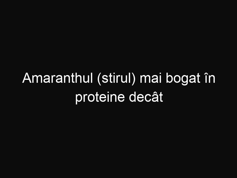 Amaranthul (stirul) mai bogat în proteine decât quinoa