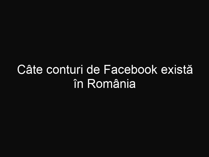 Câte conturi de Facebook există în România