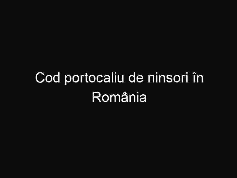 Cod portocaliu de ninsori în România