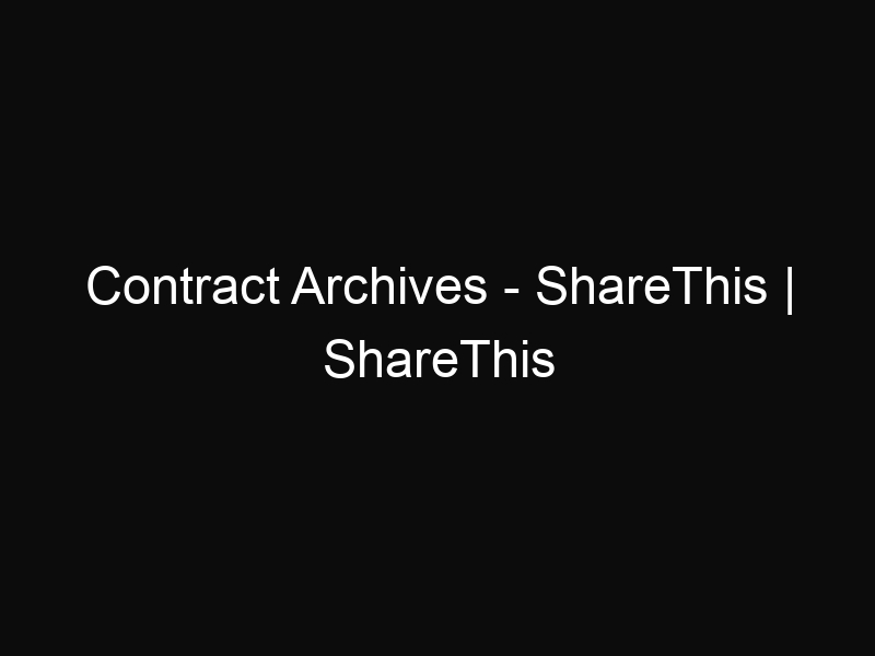 Contract Archives - ShareThis | ShareThis