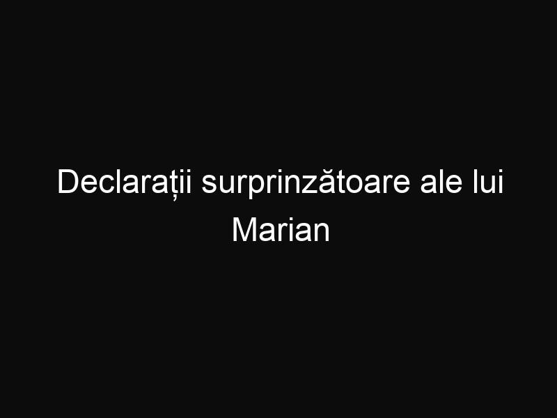 Declarații surprinzătoare ale lui Marian Vanghelie despre Victor Ponta