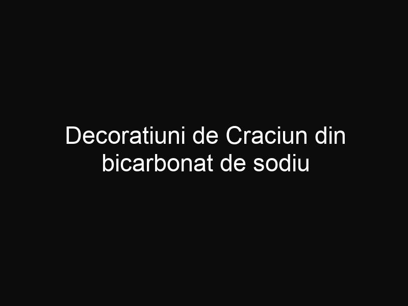 Decoratiuni de Craciun din bicarbonat de sodiu