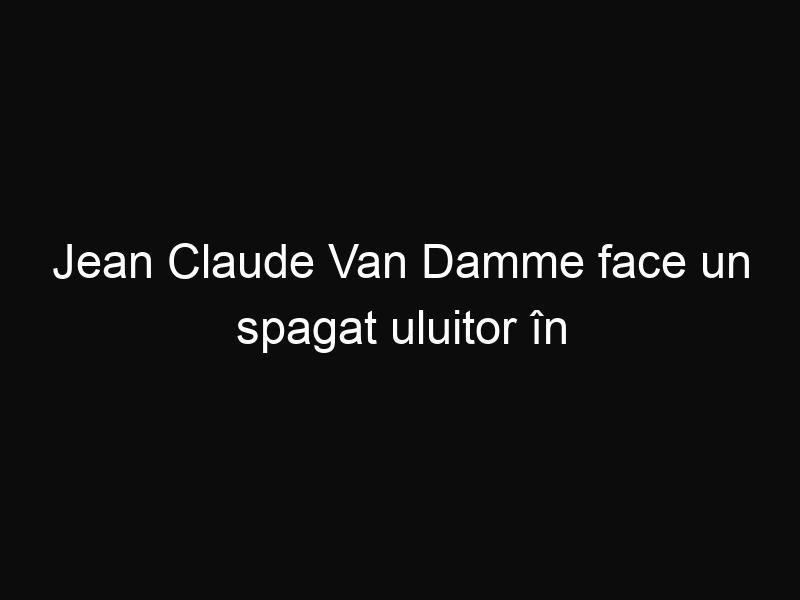 Jean Claude Van Damme face un spagat uluitor în noua reclama la camioanele Volvo