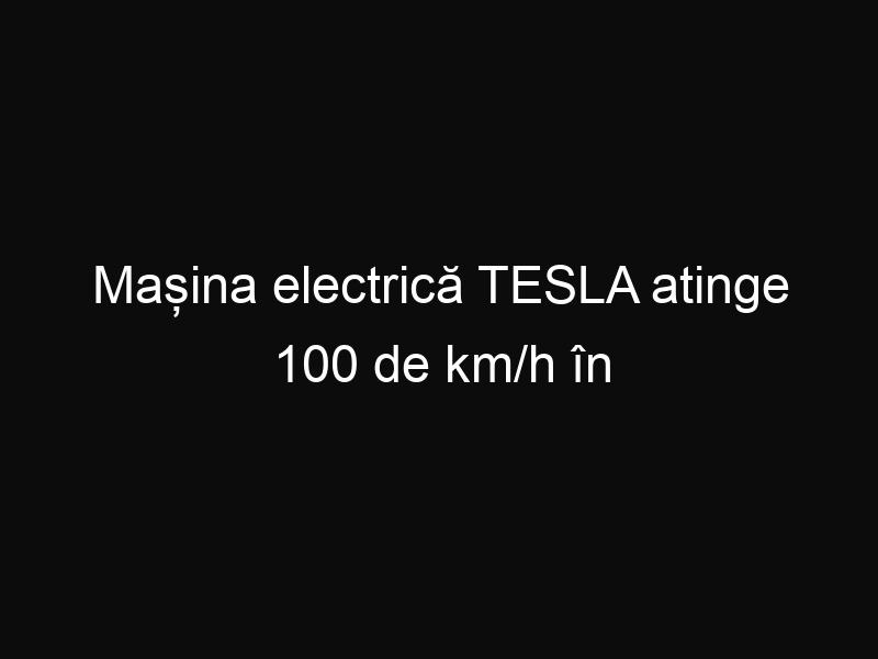 Mașina electrică TESLA atinge 100 de km/h în doar 3 secunde. Iată reacția pasagerilor din mașină