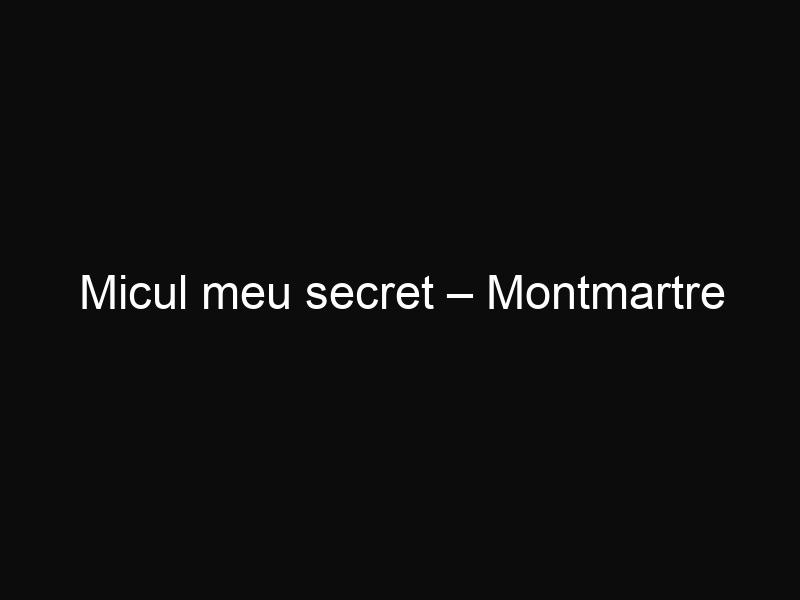 Micul meu secret – Montmartre