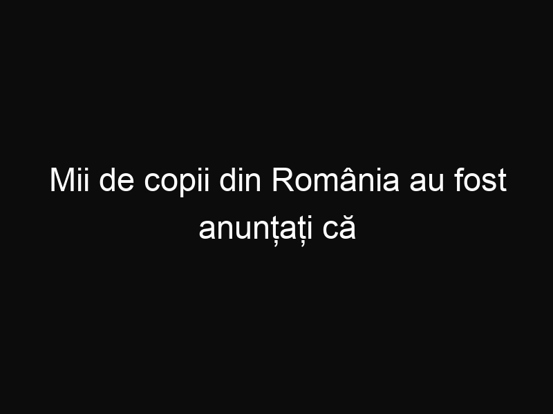 Mii de copii din România au fost anunțați că trebuie să plătească un impozit de 39 lei pe lună pentru fiecare alocație lunară pe care o primesc