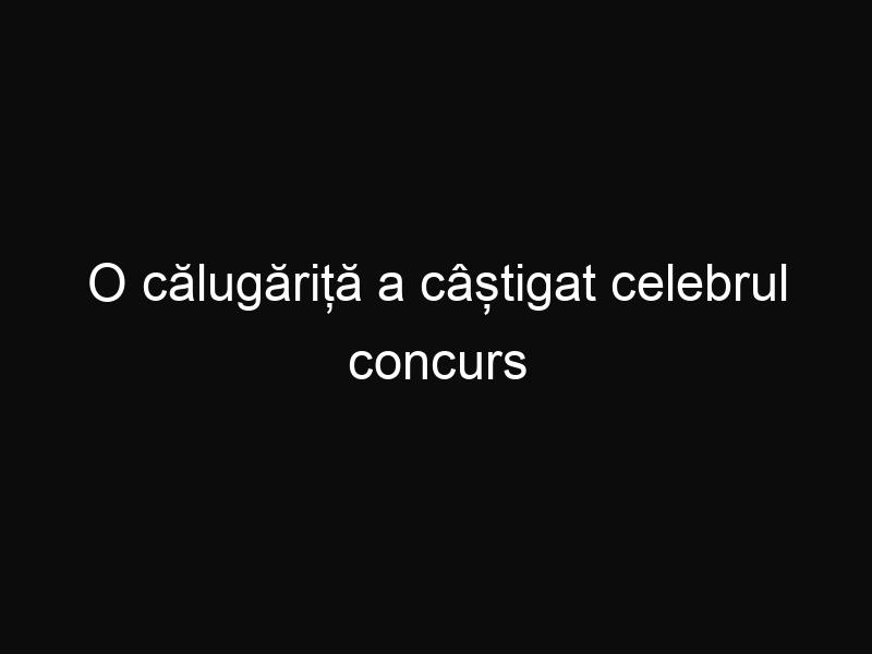 """O călugăriță a câștigat celebrul concurs """"Vocea Italiei"""""""