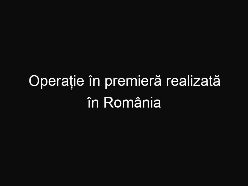 Operație în premieră realizată în România de către un medic ortoped pentru o boală rară