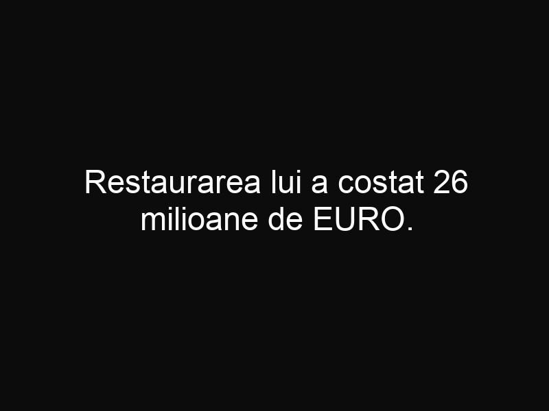 Restaurarea lui a costat 26 milioane de EURO. Acum este cel mai frumos palat din România!