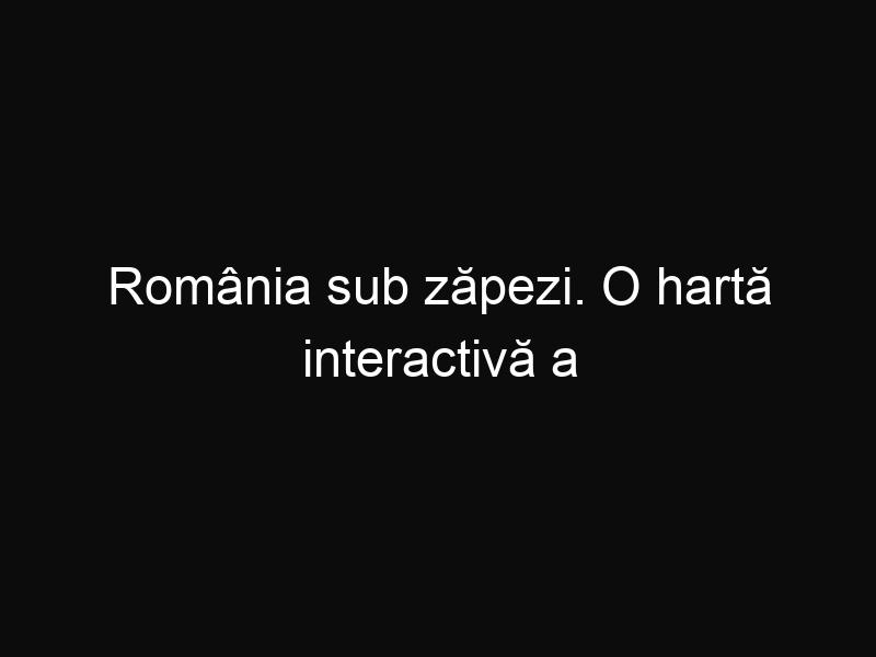 România sub zăpezi. O hartă interactivă a localităților afectate