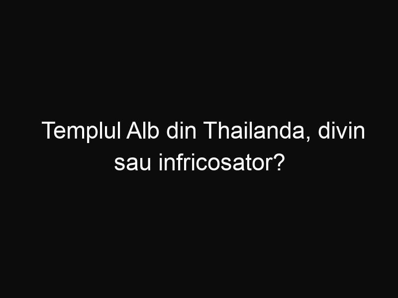 Templul Alb din Thailanda, divin sau infricosator?