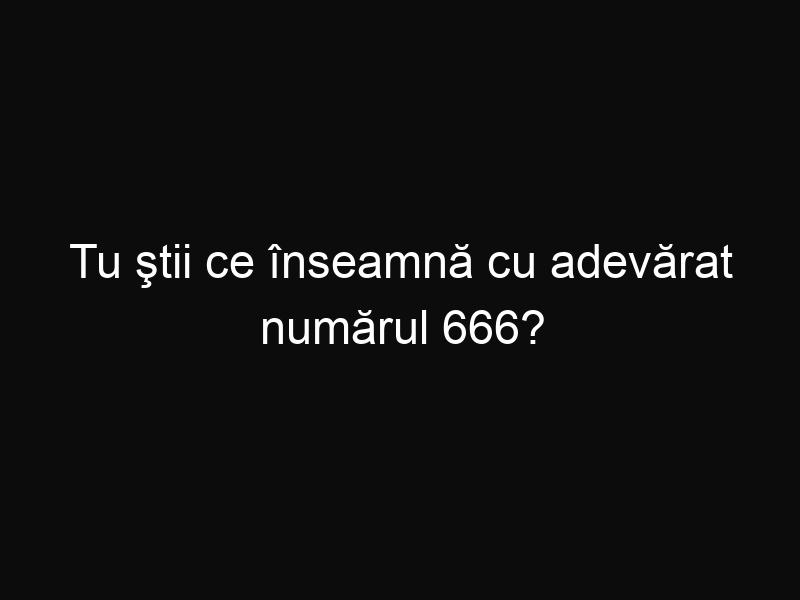 Tu ştii ce înseamnă cu adevărat numărul 666?