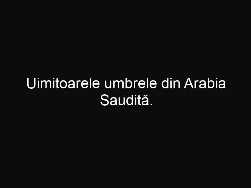 Uimitoarele umbrele din Arabia Saudită. Impresionante minuni tehnologice şi arhitecturale