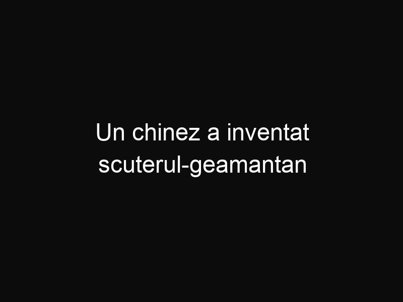 Un chinez a inventat scuterul-geamantan