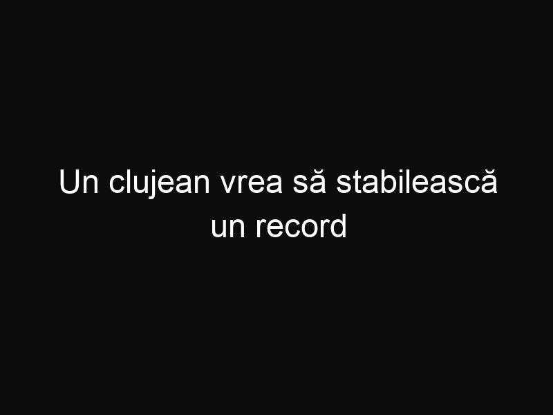 Un clujean vrea să stabilească un record mondial în Salina Turda