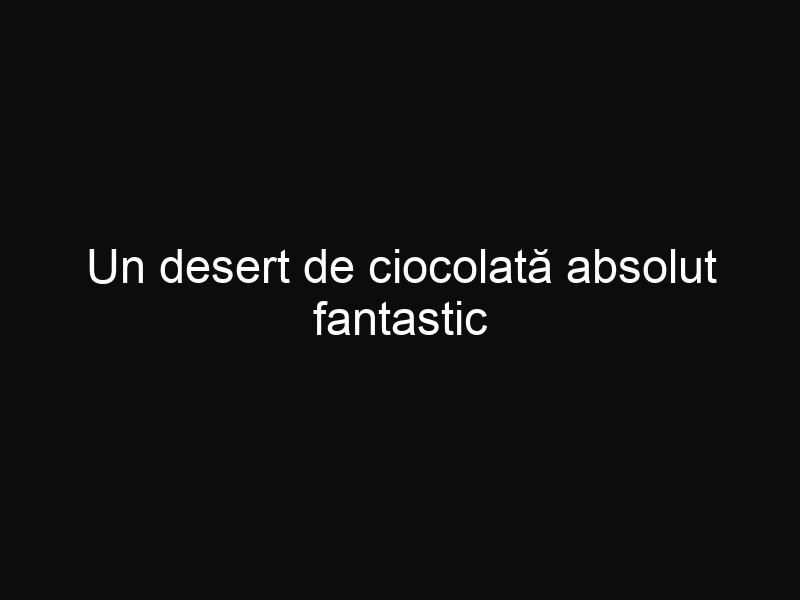 Un desert de ciocolată absolut fantastic